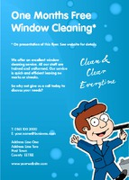 Window Cleaning A6 Leaflets by