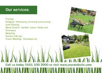 Garden Maintenance A6 Postcards by