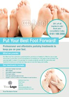Podiatrist A5 Leaflets by Rebecca Doherty