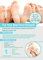 Podiatrist A6 Leaflets by Rebecca Doherty