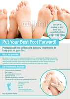 Podiatrist A4 Leaflets by Rebecca Doherty