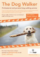 Dog Walkers A4 Leaflets by