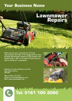Lawn Mowing A5 Leaflets by Rebecca Doherty