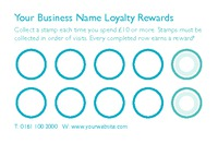 Business Card Loyalty Card Designs Collection by