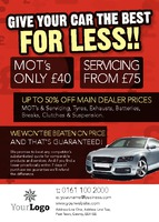 Garage Services A6 Leaflets by