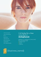 Beauty Salon A6 Leaflets by Templatecloud