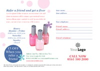Beauty Salon A5 Leaflets by Templatecloud