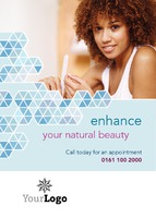 Beauty Salon A7 Leaflets by Templatecloud