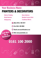 Painters and Decorators A6 Leaflets by
