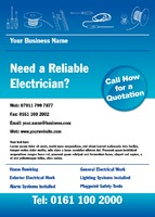 Electrician A6 Leaflets by