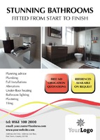 Bathroom Fitters A6 Leaflets by  