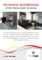 Bathroom Fitters A4 Leaflets by