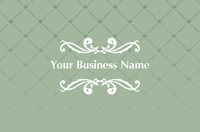 Business Card Decorative Green Collection by