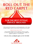 Carpet Fitters A5 Leaflets by  
