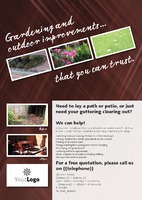 Garden Maintenance A4 Leaflets by  