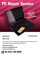 PC Repairs A5 Leaflets by