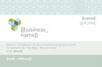 Business Card Grey Cubes Collection by Templatecloud