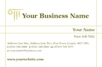 Business Advisors Business Card  by Templatecloud