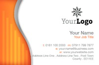 Business Card Orange Swirl Collection by