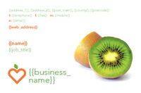 Nutritionists Business Card  by Templatecloud