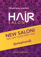 Salon A5 Leaflets by